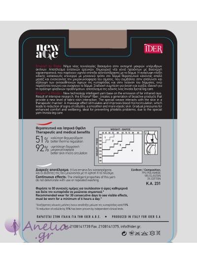 Καλσόν IDER New Age 30 denier, Καλσόν κατά της κυτταρίτιδας.