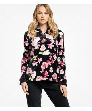 Jeannette Πυτζάμα Γυναικεία Χειμερινή (6716) Fleece Roses